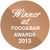 Winner at FOOD&BAR Awards 2013