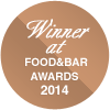 Winner at FOOD&BAR Awards 2014